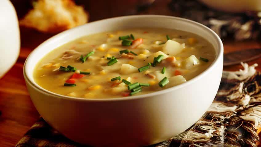 Sopa de milho com legumes