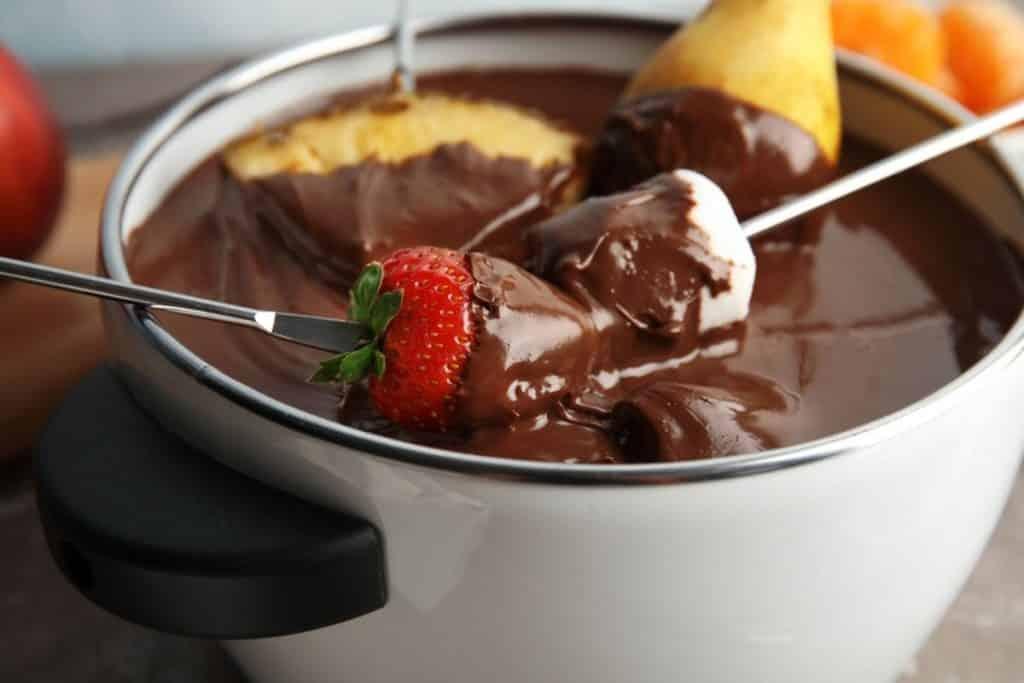 Fondue chocolate tradicional