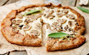 Pizza leve e saudável