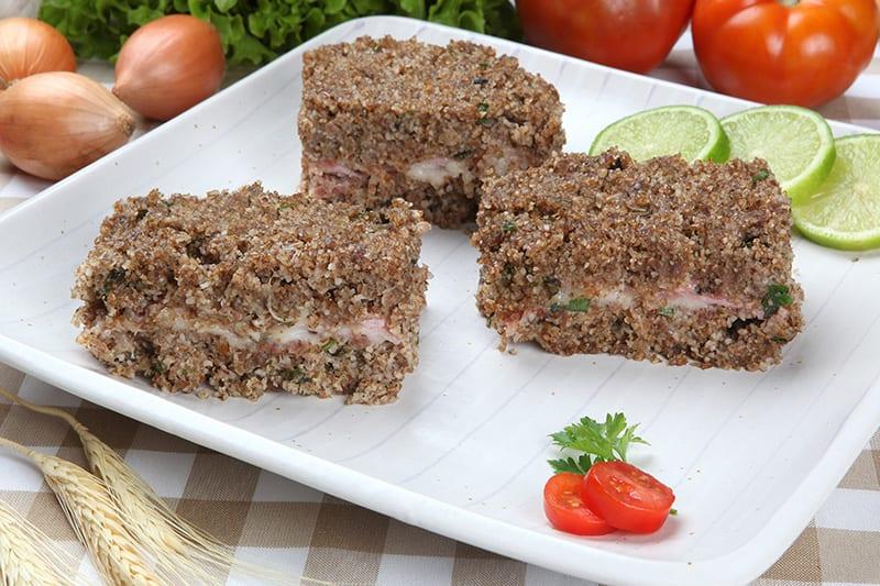 Kibe de berinjela com quinoa