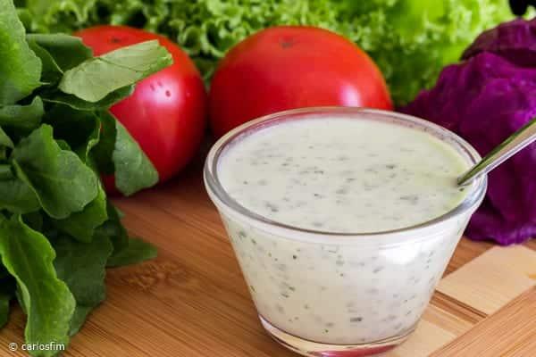 Molho iogurte para salada