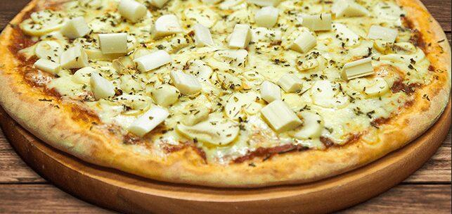 Pizza vegana de palmito