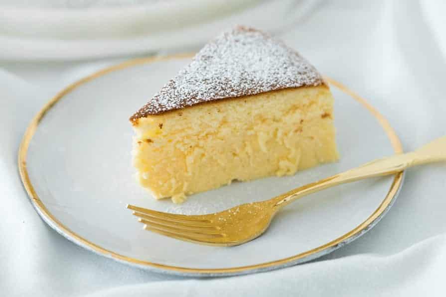 Bolo cheesecake japonês