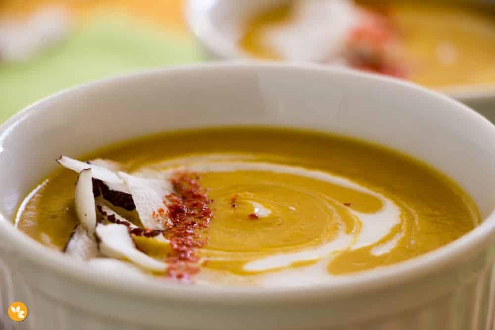 Curry vegano de abóbora com coco