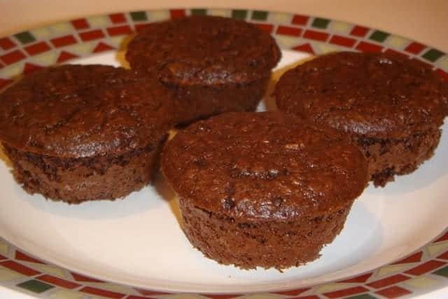 Receita de bolo de chocolate de frigideira fit
