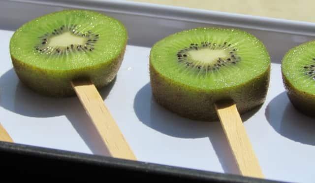Receita de Picolé de kiwi