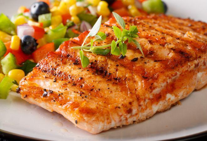 Receita de filé de salmão grelhado
