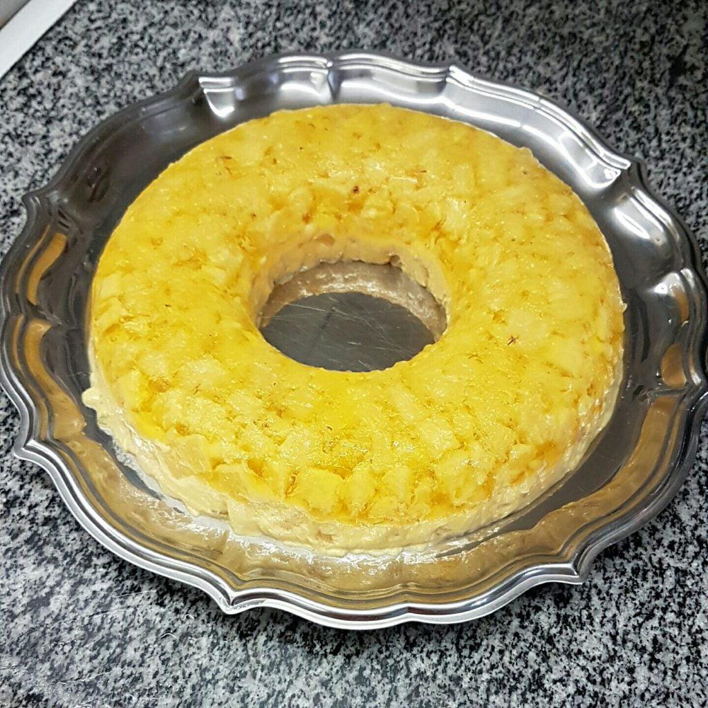 Receita de gelado de abacaxi diet