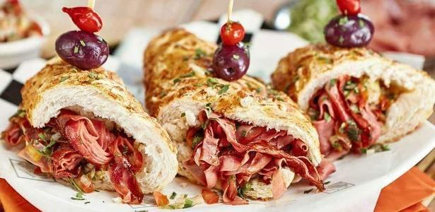 Receita de sanduíche de mortadela à vinagrete