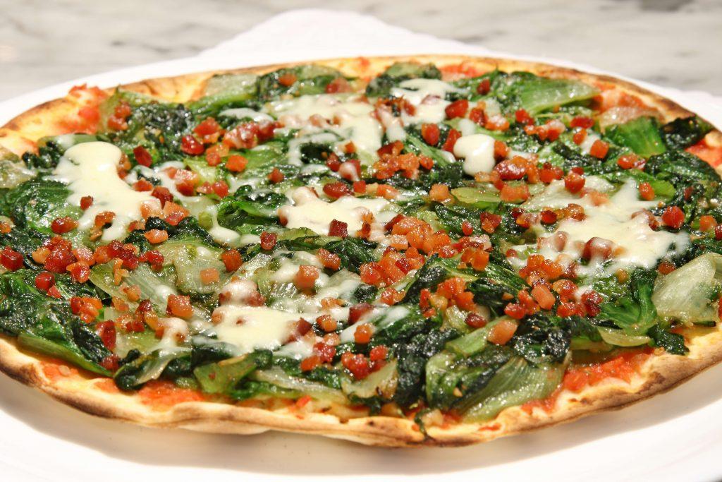 Receita de pizza de escarola