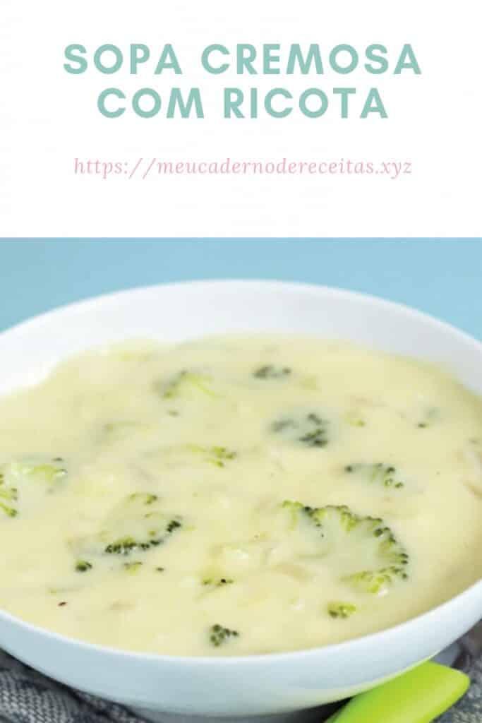 Receita de sopa de ricota