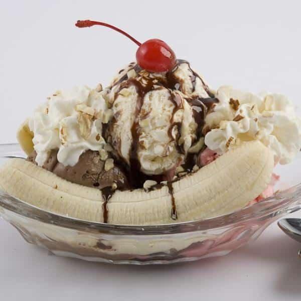 Receita de banana split