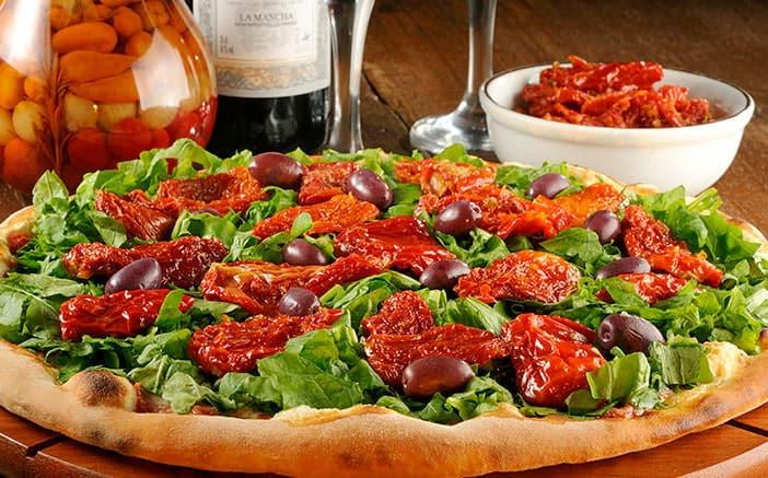 Receita de pizza de tomate seco