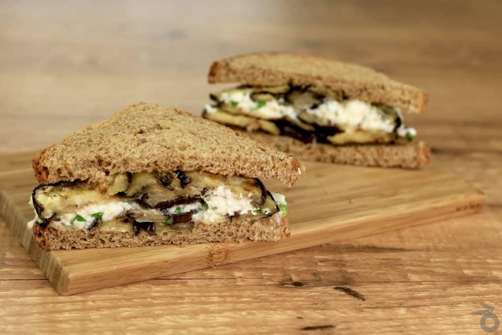 Receita de sanduíche de berinjela