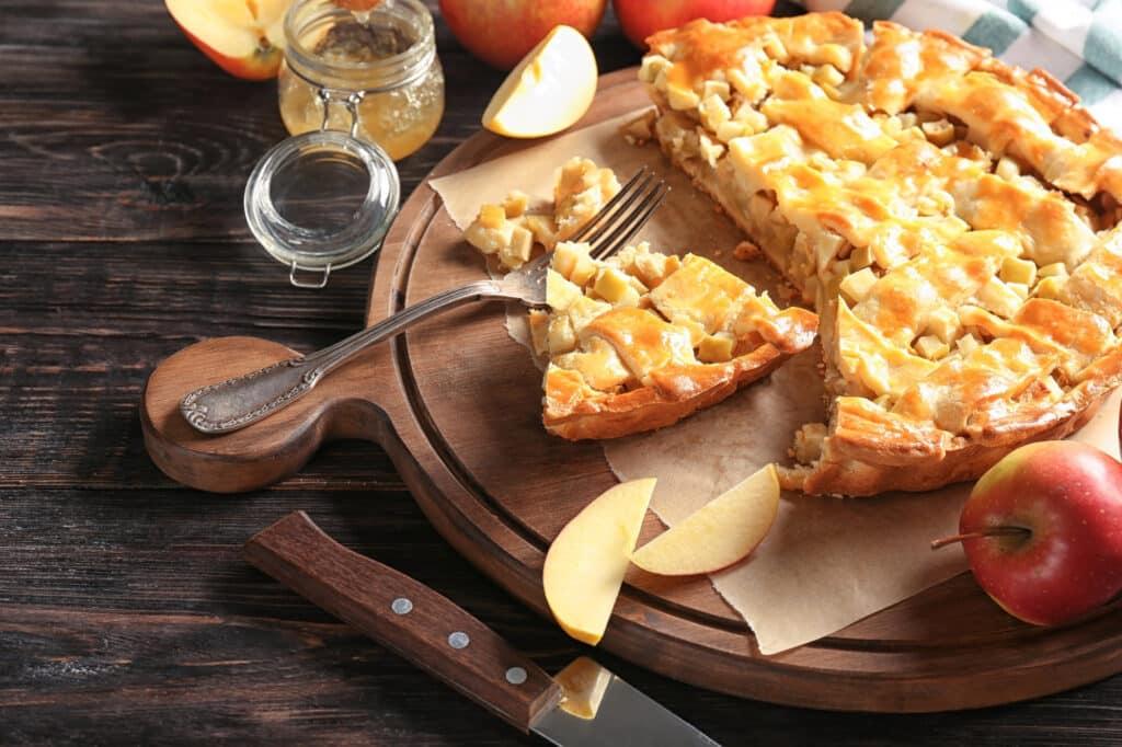 Receita de torta de maçã simples