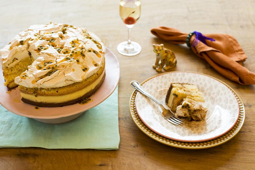 Receita de bolo de chocolate com mousse de maracujá para aniversário