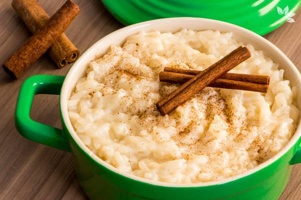 Receita de arroz doce vegano