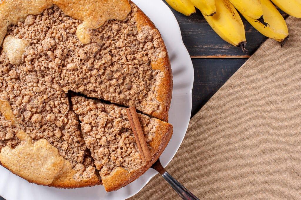 Receita de torta integral rápida de banana