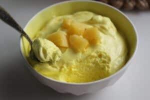 Receita de mousse gelado de abacaxi